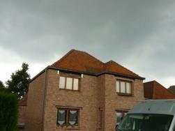 Hellend dak - voor
